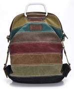 MANJIANGHONG Colour Bar Canvas Totes Shoulder Bag And Backpack