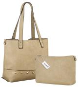 EyeCatch - Womens Designer Bags Ladies Large Shopper Bag Faux Leather Shoulder Tote Bag