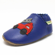 Sayoyo Baby Infant Toddler Construction Vehicles Soft Sole Leather Shoes 18-24months Blue