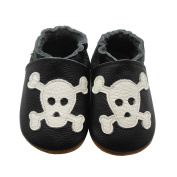 Sayoyo Baby Infant Toddler Skull Soft Sole Leather Shoes 18-24months Black