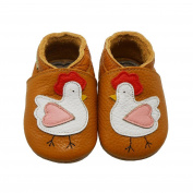 Sayoyo Baby Infant Toddler Lovely Cock Soft Sole Leather Shoes 6-12months Orange
