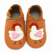 Sayoyo Baby Infant Toddler Lovely Cock Soft Sole Leather Shoes 0-6months Orange