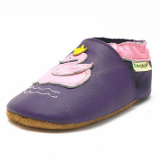 Sayoyo Baby Infant Toddler Lovely Swan Soft Sole Leather Shoes 0-6months Purple