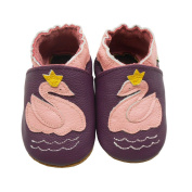 Sayoyo Baby Infant Toddler Lovely Swan Soft Sole Leather Shoes 12-18months Purple
