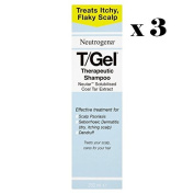 Neutrogena T/GEL Therapeutic Shampoo 3 Bottles x 250ml.