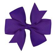 Grosgrain Bow Pinwheel Alligator Ribbon Hair Clip Flower For Girls Baby Children Gift Present