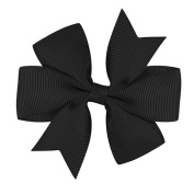 Grosgrain Bow Pinwheel Alligator Ribbon Hair Clip Flower For Girls Baby Children Gift Present