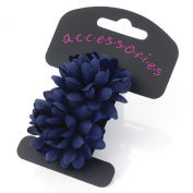 PACK OF 2 SMALL FLOWER BOBBLE SCHOOL COLOURS HAIR BANDS PONY TAIL ELASTIC