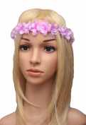 FABRIC PASTEL FLOWER HEAD GARLAND FESTIVAL BOHO CHIC BANDEAUX