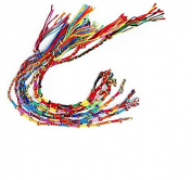 Homgaty 9Pcs Colourful Braided Friendship Bracelets Thread Wrist Ankle Bracelet Hair Decoration Random Colour