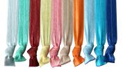 No Crease Hair Ties, Spring/Summer 2015 Colours Set of 10, Elastic Hair Ties