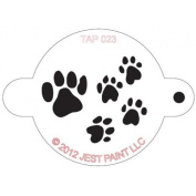 TAP Re-useable Face Paint Stencils - TAP023 Paw Prints