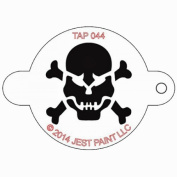 TAP Re-useable Face Paint Stencils - TAP044 Skull with Crossbones