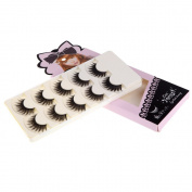 Abody 5 Pairs False Eyelashes Pure Hand-made Thick Long Voluminous Fake Lashes