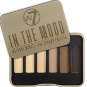 W7 6 natural nudes eyeshadow palette in tin IN THE MOOD