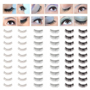 Amazing Value Make Up Artists Set of 30 Pairs High Quality Handmade False Eyelashes / Fake Eyes Lashes In 3 Different Styles By VAGA