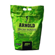 Iron Mass Banana Cream 4540g Arnold Schwarzenegger Series MusclePharm, Supports Gains In Hard, Dense Muscle Mass and Strength, Contains A Blend Of Healthy Fats, Complex Carbohydrates & BCAA Nitrates