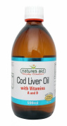 THREE PACKS of Natures Aid Cod Liver Oil Liquid 500ml