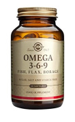 Solgar Omega 3-6-9 Fish, Flax, Borage Softgels, 60