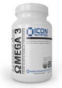 Omega 3 Fish Oil, High Strength 120 Softgels, Sustainably Sourced 3:2 EPA/DHA Ratio
