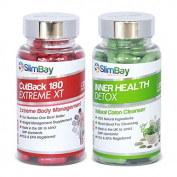 SlimBay CutBack 180mg Slimming Pills and Inner Health Detox Colon Cleansers - Weight Loss and Well Being Combo Pack