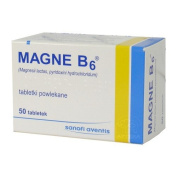 MAGNE B6 - 50 tablets - Supportive agent in atherosclerosis, hypertension, coronary heart disease, epilepsy.