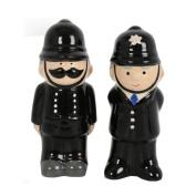 SALT AND PEPPER SET POLICE CERAMIC SHAKERS KITCHEN CONDIMENT SHAKER NOVELTY NEW