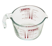 Deluxe Pyrex Stain Resistant Glass Measuring Jug, 1L