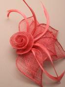 Allsorts® Coral Red Beak Clip Fascinator Weddings Ladies Day Race Royal Ascot