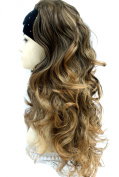 Forever Young Extra Long Wavy 3/4 Half Wig Fall Clip In Hair Extension - Colour