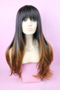Sexy Natural Long Straight Hair Wig Synthetic Full Wig Like Real Human Hair for Women