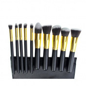Ardisle 10pcs Kabuki Style Professional Make up Brush Set Foundation Blusher Face Powder -Package Content
