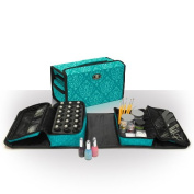 Manicure Storage Set Imperial Teal Double-It Professional Nail Art And Beauty Case