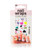 Fashionable Cute Heart Nail Wraps