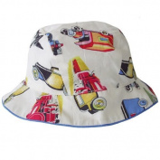 Powell Craft 100% Cotton Vintage Transport Design Baby Boys Sun Hat