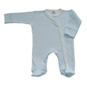 BabywearUK Blue stripe Cross body Sleep Suit - Newborn - British Made