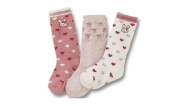 Girls Kids Socks 3-pack Pink Strawberry Stripe Age 1 to 7 NON SKID
