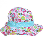 Baby Girl's Bucket Style Pretty Floral Summer Sun Beach Hat