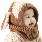 Etosell Lovely Warm Toddler Kids Baby Unisex Woollen Kintted Scarves Cap