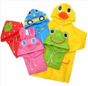 Waterproof Kids Funny Raincoat Children Cartoon Rain Coat Suit 3-8 years --Pink Rabbit