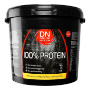 Deluxe Nutrition 100% Protein 4kg Strawberry With Whey, Isolate Protein And Added Glutamine Peptide