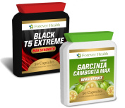 Garcinia Cambogia PURE 30 Pills * PLUS T5 Black Extreme 30 Tablets * Specially Formulated for Super Fast Weight Loss - Lose Up 7.7kg In 12 Weeks ! - AMAZING Fat Burner - Garcinia Cambogia Pure WHOLEFRUIT Not An Extract ! FREE UK. Die ..