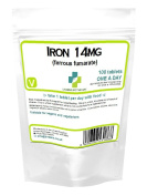 Lindens Iron Tablets 14mg one a day 100 tablets