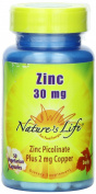 Nature's Life Zinc Picolinate, 50 caps 30 mg