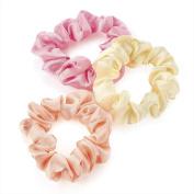 GIZZY® Girls / Ladies Set of 3 Mini Elastic Scrunchies