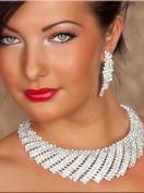Sexy Women's Rhinestone Necklace & Earrings Set Jewellery Costume Accessory