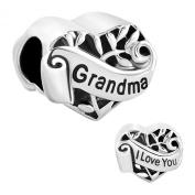 I Love You Grandma Heart Family Charms Sale Cheap Jewellery Bead fit Pandora Bracelet