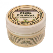 Authentic Vivid Essentials Body Bleaching Milk Salt Scrub With Collagen- Firming, Whitening and Moisturising