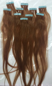 10 Piece Tape in Hair Extensions Auburn Colours Streaks Makes 4 Sandwiches Tape-in Wefts 46cm - 48cm