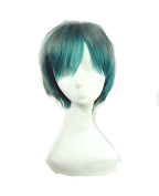Sunny-business Anime Short Peacock Green Party of Cosplay Wig